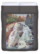 High Falls Dupont Forest Duvet Cover