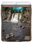 High Falls Of Tettegouche State Park 3 Duvet Cover