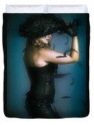 High Fashion Female Mystery Dancer Duvet Cover