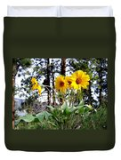 High In The Hills Duvet Cover