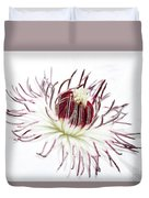High Key Clematis Duvet Cover