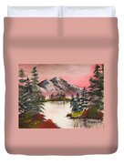 High Lakes Summer Sunset Duvet Cover