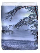 High Mountain Fence Duvet Cover