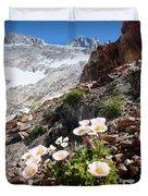High Mountain Flowers Duvet Cover