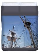 High On The Foremast Duvet Cover