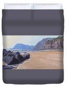 High Peak Cliff Sidmouth Duvet Cover