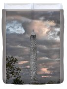 High Point Monument Sussex County New Jersey Duvet Cover