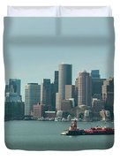 High Resolution Panoramic Of Downtown Boston During The Day Duvet Cover