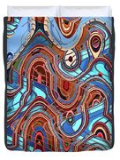 High Rise Abstract Phoenix Duvet Cover