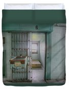 High Risk Solitary Confinement Cell In Prison Duvet Cover
