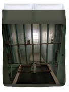 High Risk Solitary Confinement Cell In Prison Through Bars Duvet Cover