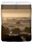 High Surf At Asilomar Beach Duvet Cover