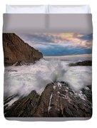 High Tide At Bald Head Cliff Duvet Cover