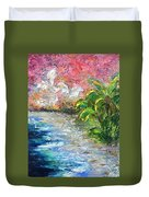 High Tide In Paradise Duvet Cover