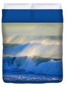 High Tide On The Atlantic Ocean Duvet Cover