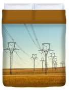 High Voltage Power Lines Duvet Cover