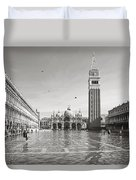 High Water In S.marco Square Duvet Cover