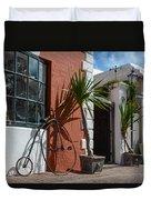 High Wheel Bicycle In Bermuda Duvet Cover