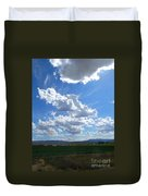 High Winds Chase The Rain Clouds Away Duvet Cover