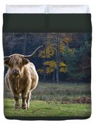Highland Cow In France Duvet Cover