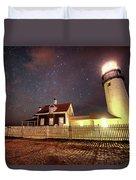 Highland Light Truro Massachusetts Cape Cod Starry Sky Shadow Duvet Cover
