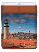 Highland Lighthouse Truro Massachusetts Duvet Cover