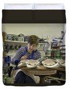 Highland Stoneware Artist At Work Duvet Cover