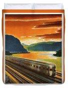 Highlands Of Hudson, Railway, Train Duvet Cover