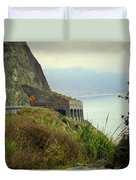 Highway 1 At Lucia South Of Big Sur Ca Duvet Cover