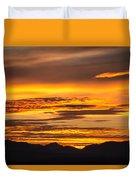 Highway 2 Sunrise Duvet Cover