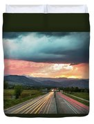 Highway 36 To Beautiful Boulder Colorado Duvet Cover