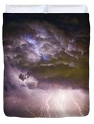 Highway 52 Storm Cell - Two And Half Minutes Lightning Strikes Duvet Cover