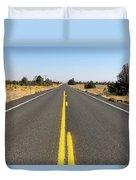 Highway In Central Oregon Duvet Cover
