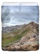 Hikers On Columbine Pass - Weminuche Wilderness - Colorado Duvet Cover