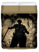Hikers Shadow Duvet Cover