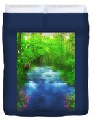 Hiking At The Rivers Edge Duvet Cover
