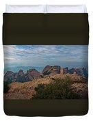 Hiking In Montserrat Spain Duvet Cover