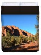Hiking In Red Rocks In Arizona Duvet Cover