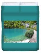 Hiking Kaluderovac Lake Duvet Cover