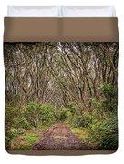 Hiking On Rangitoto New Zealand Duvet Cover