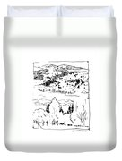 Hiking The Rockies Duvet Cover