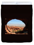 Hiking Through Arches Duvet Cover