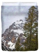 Hiking To Taggart Lake Duvet Cover