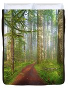 Hiking Trail In Washington State Park Duvet Cover