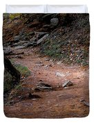 Hiking Trail To Abrams Falls Duvet Cover by DigiArt Diaries by Vicky B Fuller