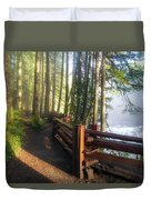 Hiking Trails At Lower Lewis River Trail Duvet Cover