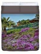 Hill Of Flowers Duvet Cover