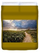 Hill Road To A Lighthouse H A Duvet Cover