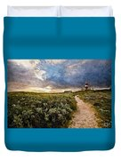 Hill Road To A Lighthouse H B Duvet Cover