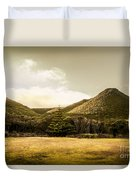 Hills And Fields Of Trial Harbour Duvet Cover